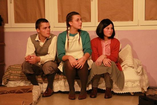 M. Abrahamse, Lucas Speiser (Peter van Daan) und Mara Schlegel (Margot Frank)