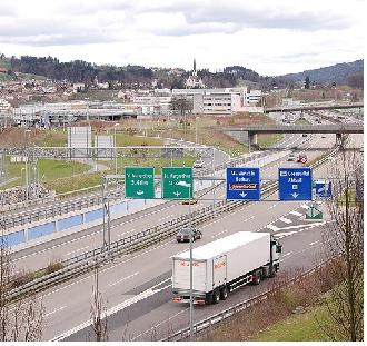 Autobahn bei St.Gallen, Quelle: Wikipedia, User Filzstift