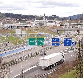 Autobahn bei St.Gallen, Quelle: Wikipedia, User Filzstift
