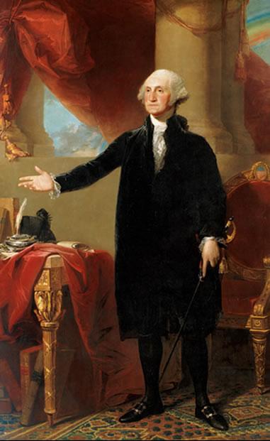 Beim Porträt von George Washington wurden dezente Symbole eingebaut