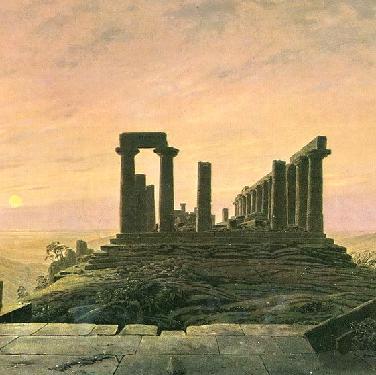 Junotempel in Agrient (Ausschnitt) von Caspar David Friedrich