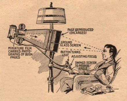 Idee des Buchs der Zukunft im Jahr 1935