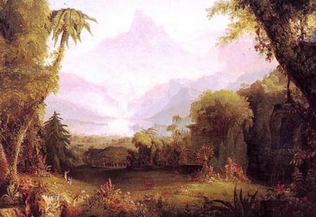 """Ausschnitt aus """"Der Garten Eden"""" von Thomas Cole (1828)"""