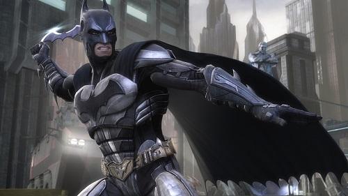 Batman throwing stuff