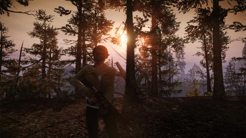 Zombieromantik beim Sonnenuntergang