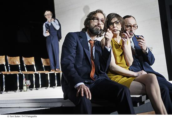 Bild: Siggi Schwientek (im Hintergrund), Michael Neuenschwander, Miriam Maertens, Lukas Holzhausen