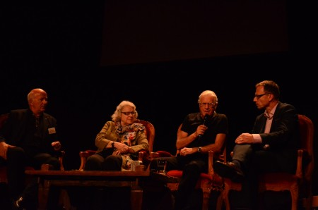 Roland Siegwart (ETH), Ilse Meyer, Toni Vescoli und Beat Glogger