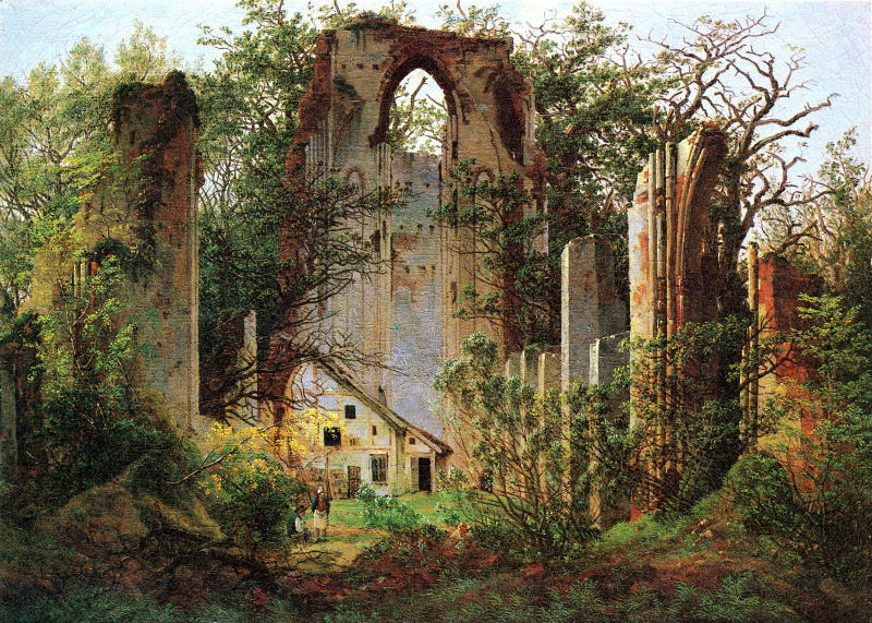 Caspar_David_Friedrich_-_Klosterruine_Eldena_(ca.1825)